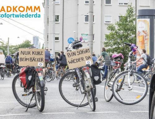 #nurmaleben und #sofortwiederda: Aktion gegen zugeparkte Radwege