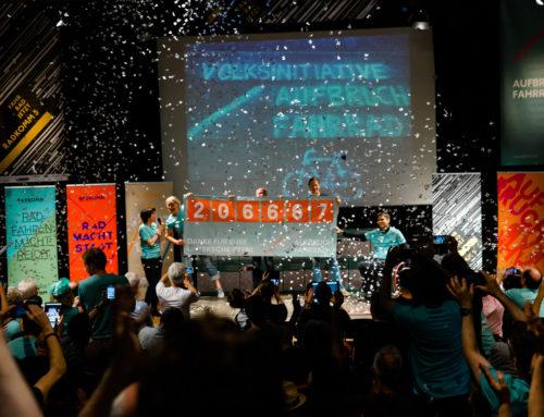 RADKOMM 5: 206.687 Stimmen für die Verkehrswende – Volksinitiative Aufbruch Fahrrad ein Riesenerfolg