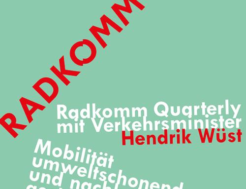 RADKOMM Quarterly mit NRW-Verkehrsminister Hendrik Wüst am 04.02.20 in Köln
