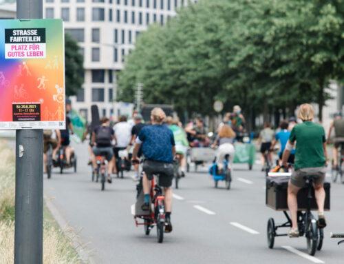 Straße fair teilen auf der Kölner Fahrrad-Sternfahrt 2021